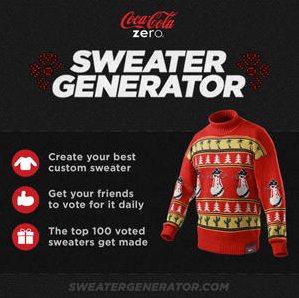 Coca Cola Zero Sweater Generator