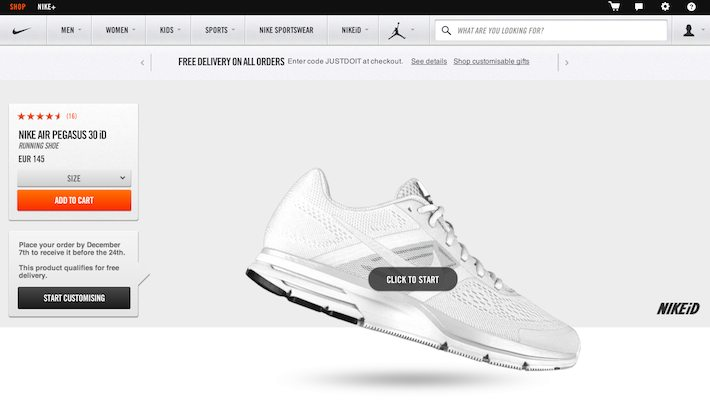 Nike Air Pegasus NIKEiD - Click to start