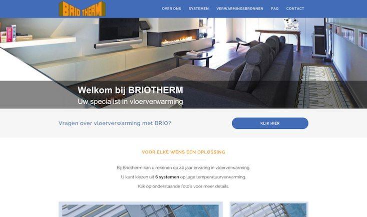 Briotherm Screenshot Homepage