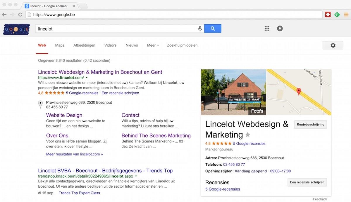 Lincelot - Google Mijn Bedrijf