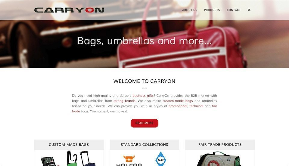 Lincelot Webdesign - Carryon Bgas and products on demand 1