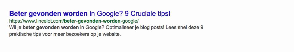 SEO-titel en meta-omschrijving - Beter gevonden worden in Google tips