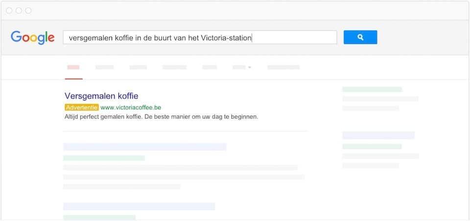 De voordelen en nadelen van adverteren op Google - Voorbeeld van ad