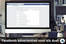 Facebook advertenties voor elk doel