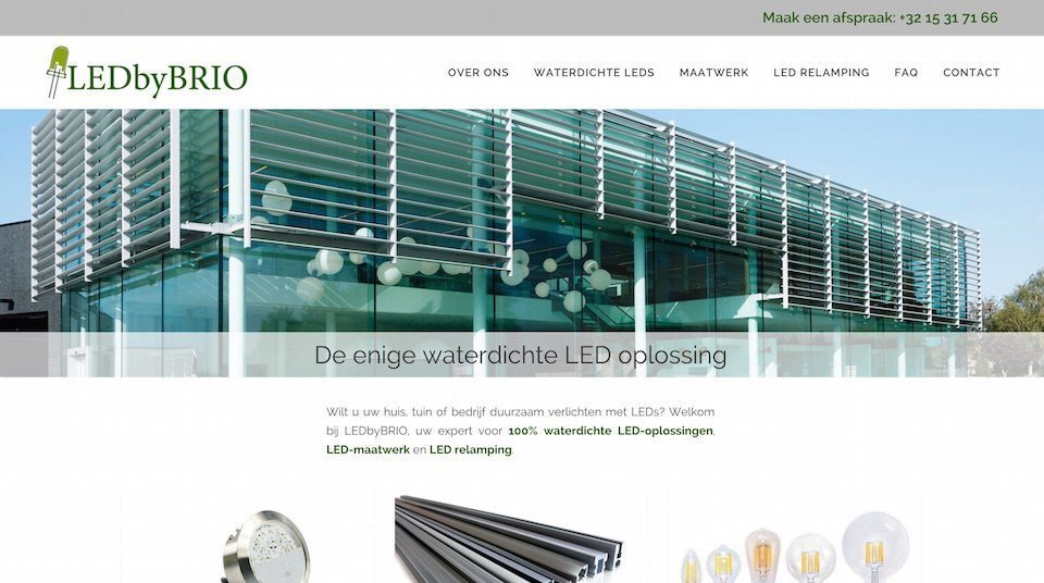 Lincelot webdesign - LedByBrio home
