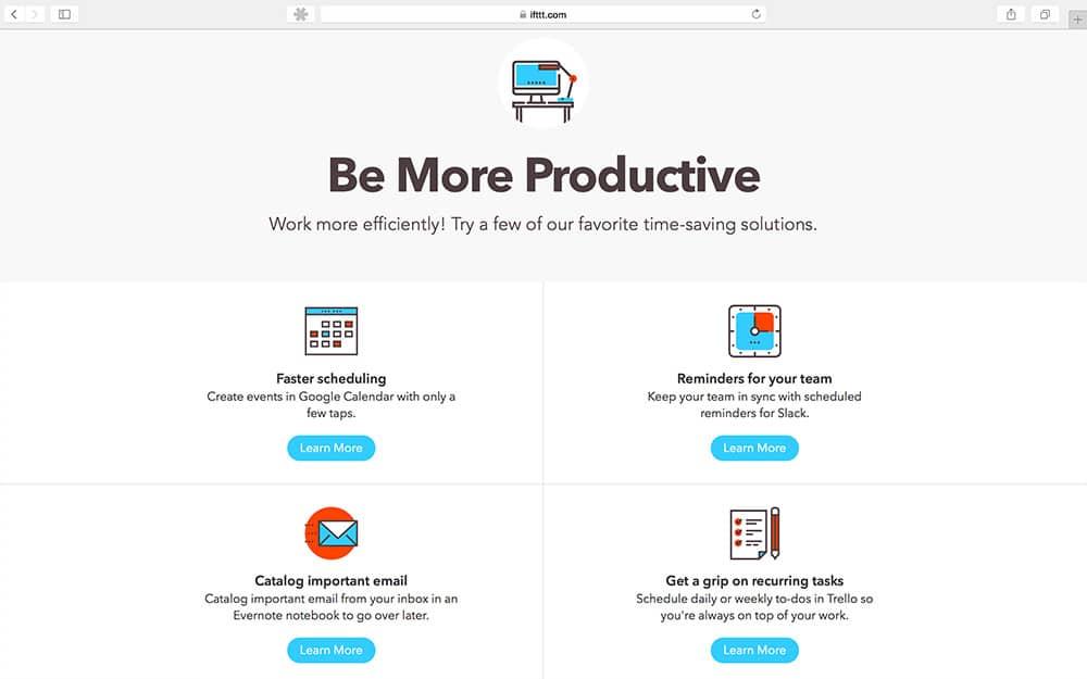 16 productivity tools die je productiviteit verhogen - IFTTT
