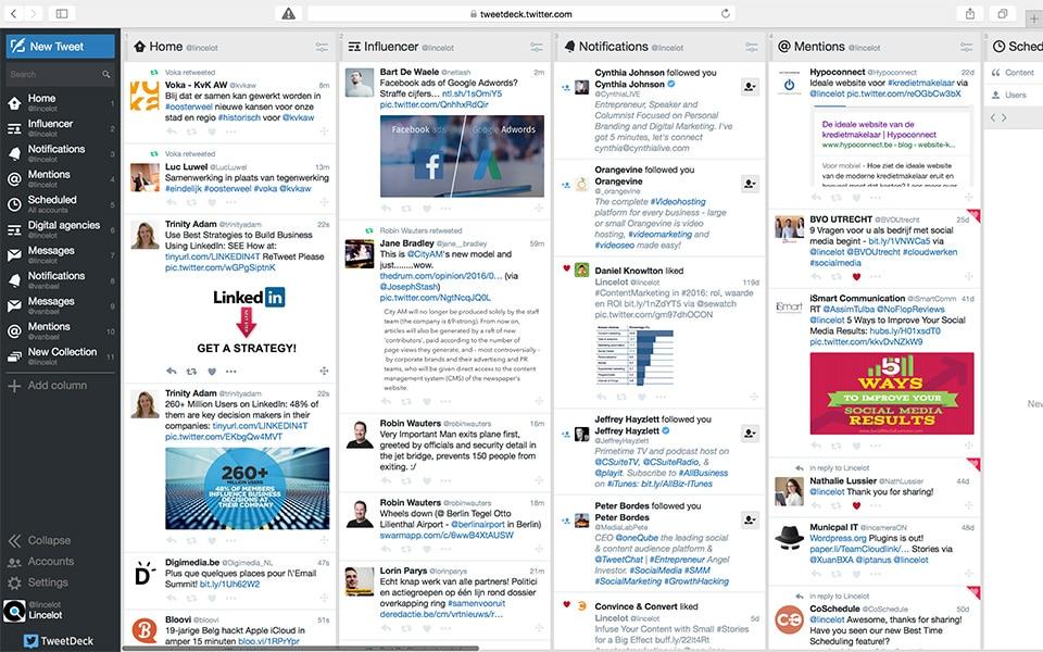 4 social media management tools voor je bedrijf - TweetDeck