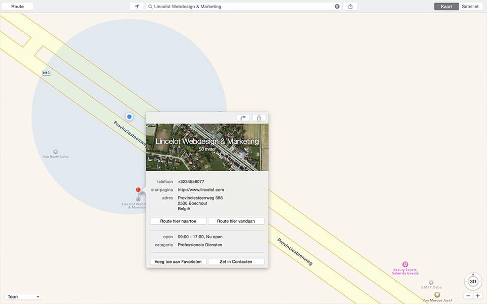 Apple Maps - Lincelot