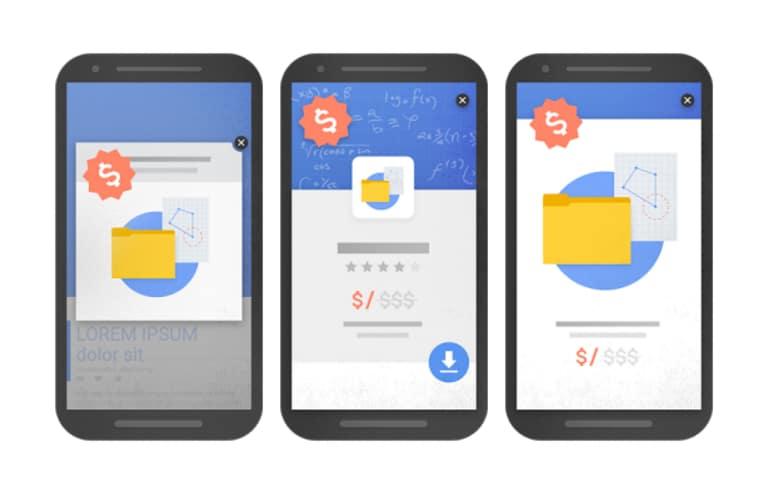 Voorbeelden van storende interstitials die Google vanaf 10 januari 2017 zal afstraffen