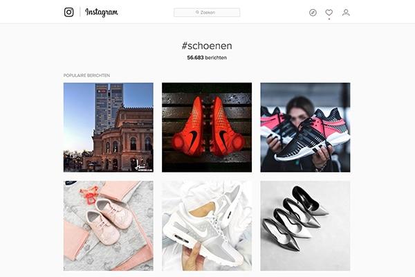 Instagram hashtags - Schoenen