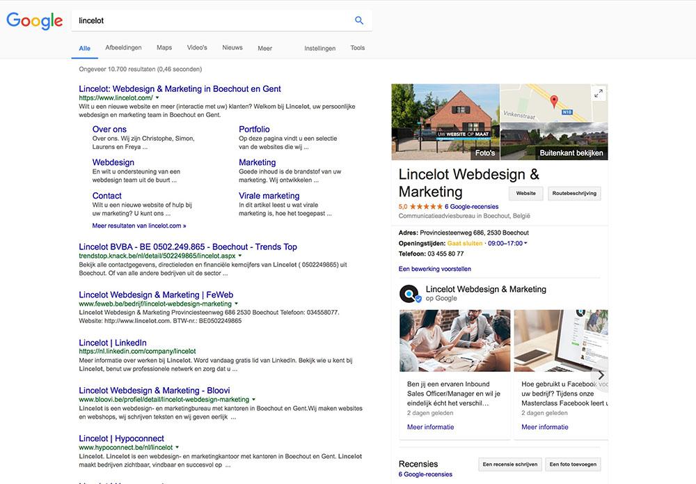 Google Posts - Vergroot uw zichtbaarheid in Google - Lincelot - S