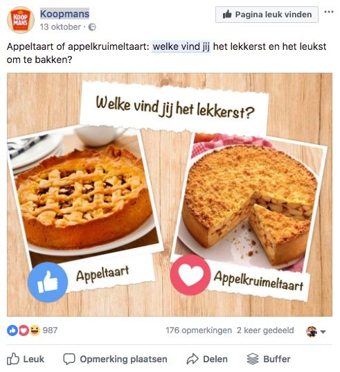Facebook post idee 10 - Keuze of dilemma - Lincelot