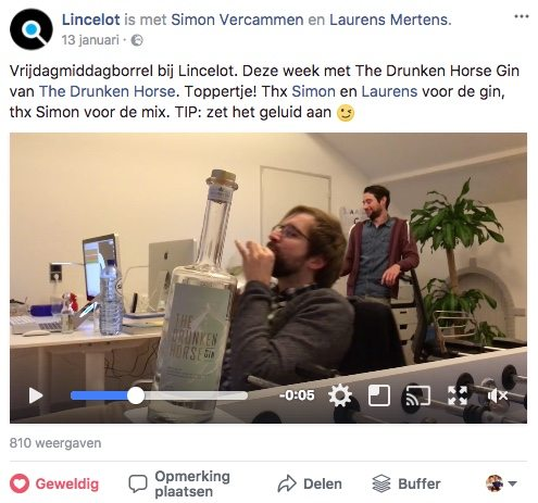 Facebook post idee 13 - Behind-the-scenes - Lincelot