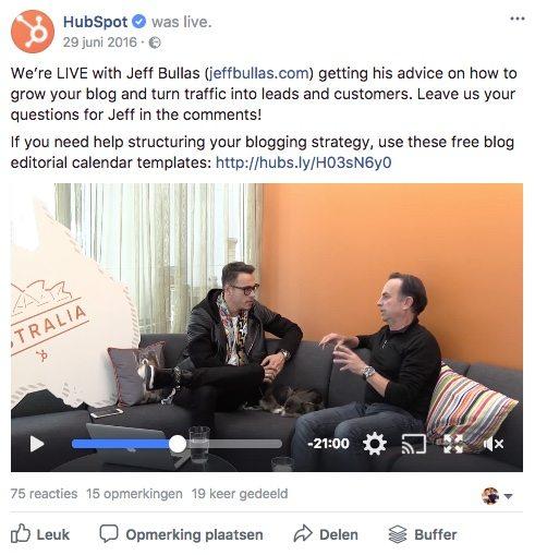Facebook post idee 39 - Interview - Lincelot