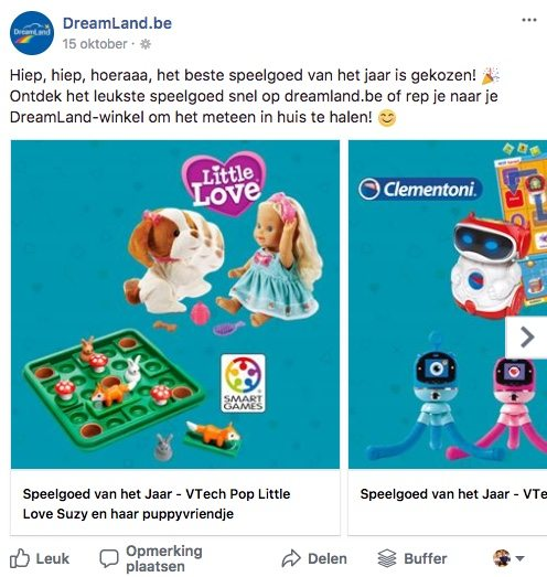 Facebook post idee 4 - Carrousel - Lincelot