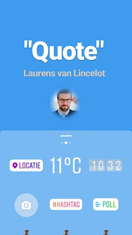 Instagram Stories - Face sticker - Lincelot
