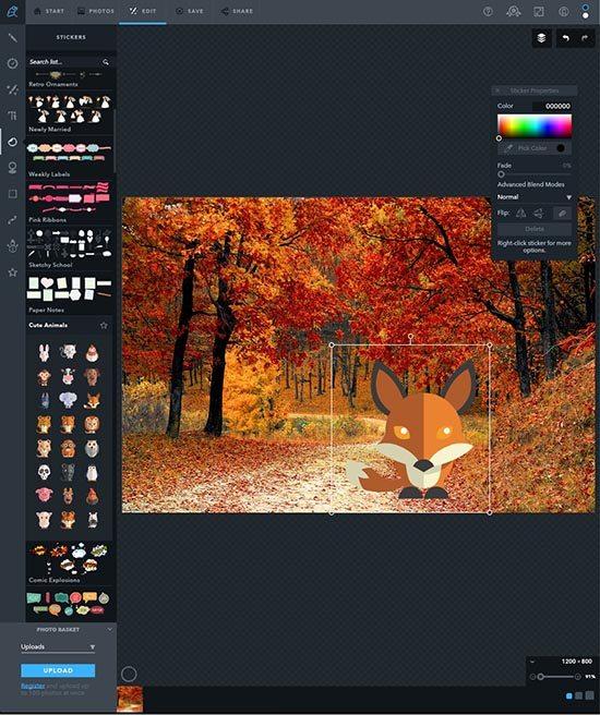 Online foto's bewerken - 5 gratis fototools - Ribbet stickers - Lincelot