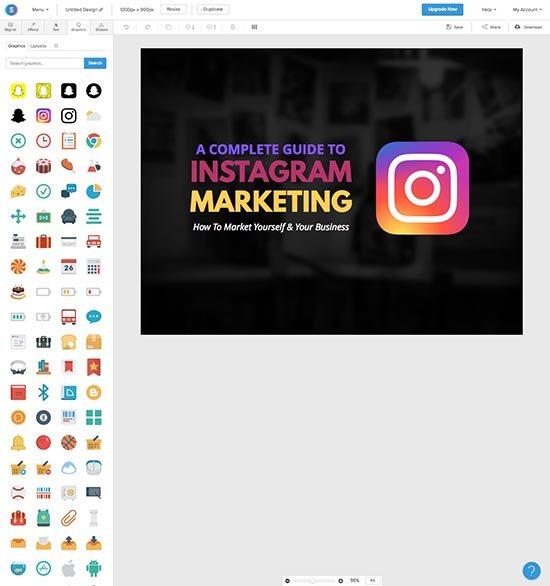 Online foto's bewerken - 5 gratis fototools - Snappa iconen - Lincelot