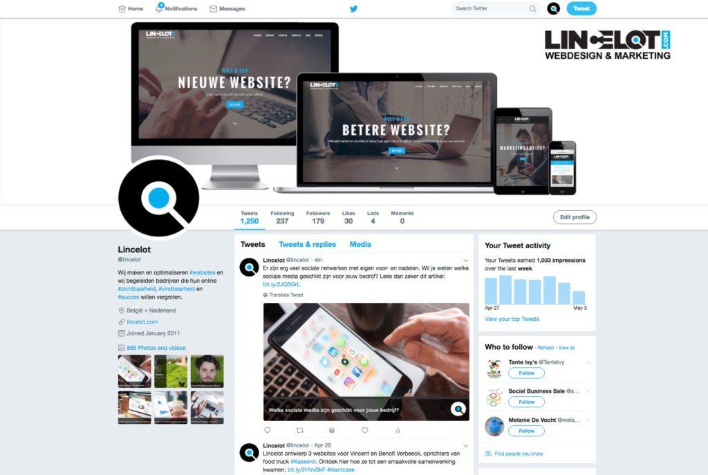 Sociale media voor bedrijven - Twitter - Lincelot