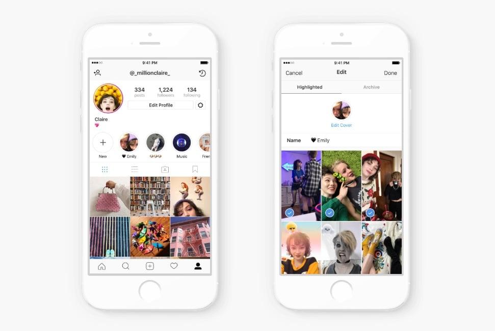 Instagram Hoogtepunten - Instagram Highlights maken - Lincelot