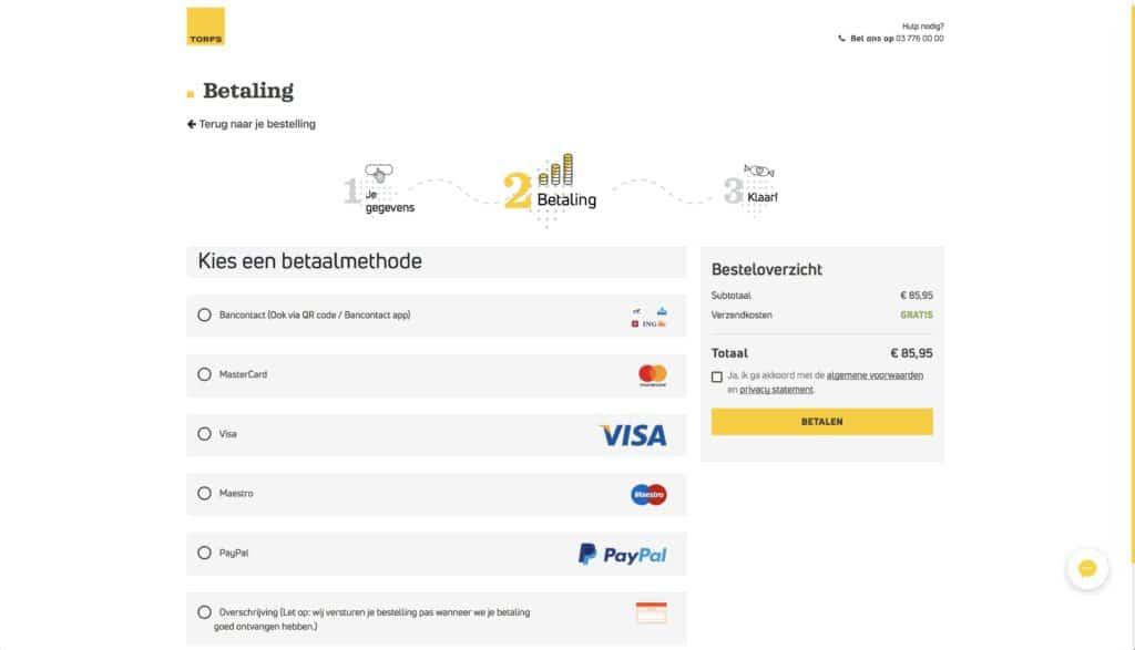 webshop optimalisatie - betaalmogelijkheden - Lincelot