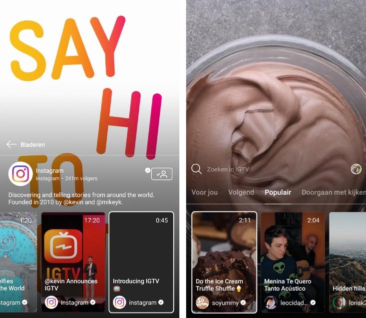 Instagram TV - IGTV - voorbeelden - Lincelot