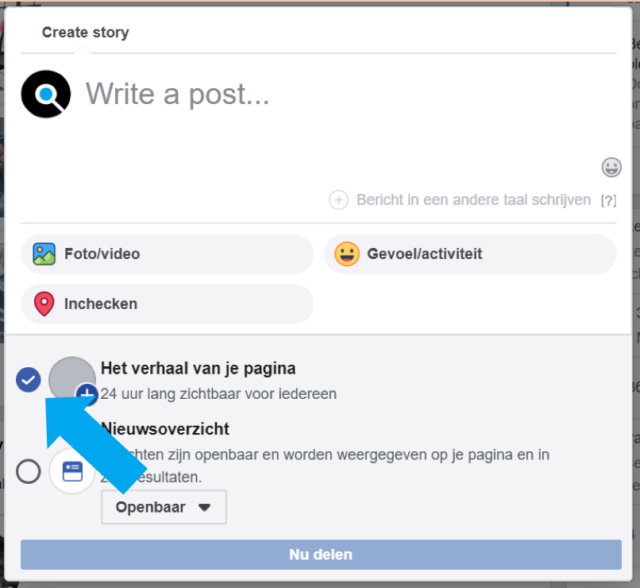 Facebook Stories voor bedrijven - de gids voor beginners - Stories maken - Lincelot - 2