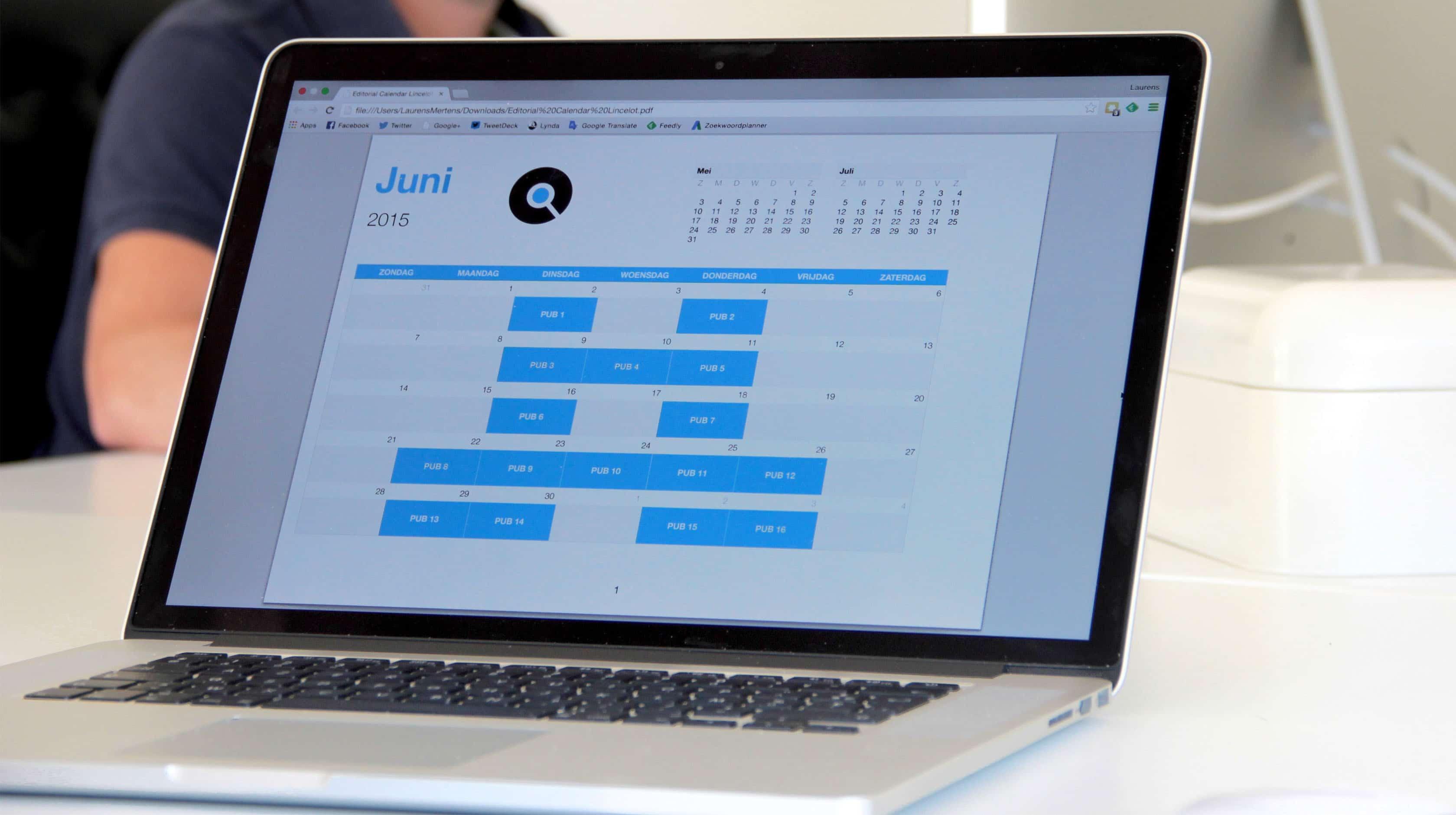 Publicatiekalender content marketing